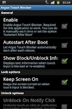 Screen Lock / disable touch