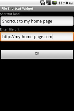 URI Launch Home Screen Widget