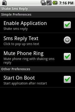 Shake Sms Reply
