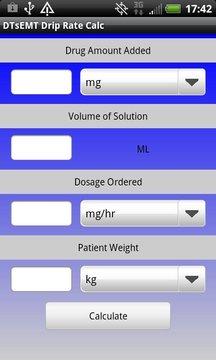 IV Drip Rate Calculator