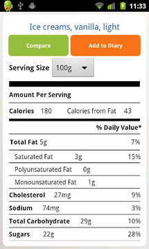 Nutrition Facts FREE