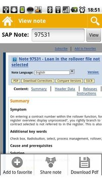 SAP support note viewer