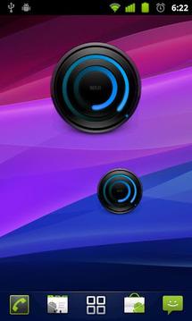螺旋蓝色模拟时钟