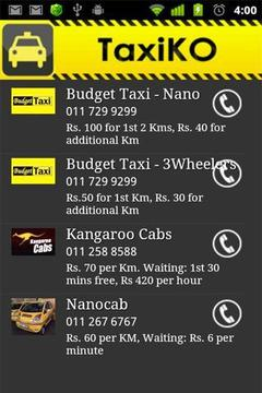 TaxiKO - Colombo Taxi List