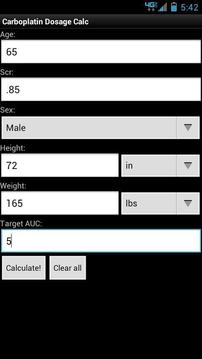 Carboplatin Dosage Calculator