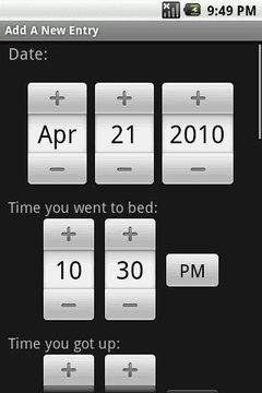 我的睡眠日记测试版