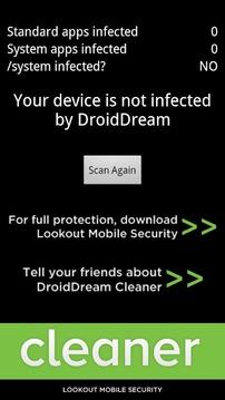 DroidDream Malware Cleaner
