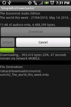 简易RSS下载器