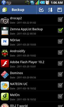 Zemna AppList Backup