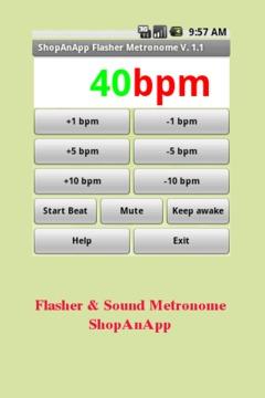 Flasher & Sound Metronome awak