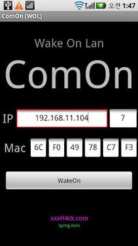 ComOn (WakeOn Lan) Computer On