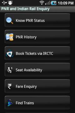 PNR and Indian Rail Enquiry
