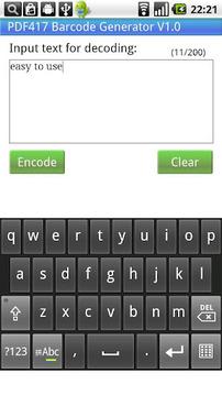 PDF417 Barcode Generator