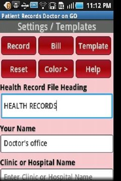 Patient Records Doctor ON GO-T