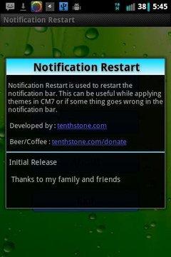 Notification Restart