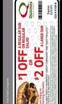 Fast Food Deals and Coupons