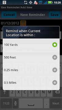 Geo Reminders