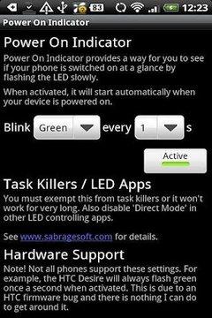 Power On Indicator