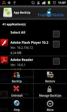 应用程序备份 App BackUp Lite v1.2