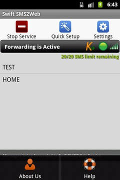Swift SMS2Web
