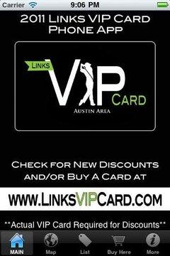 Links VIP Card - Austin Area