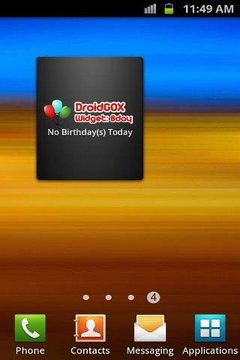 DroidGOX Widget: Birthday