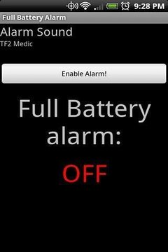 Full Battery Alarm