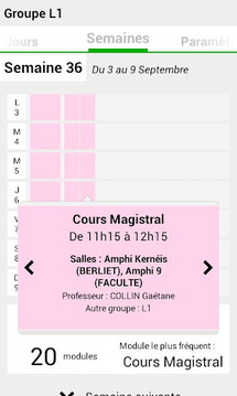 Emploi du temps Univ Nantes