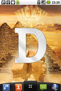 Diamond letter D sticker