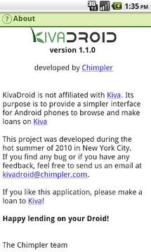 Kivadroid: Kiva on your Droid!