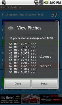 Baseball Pitch Calculator