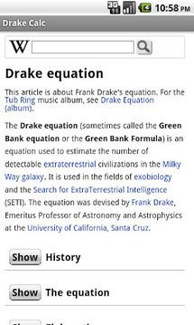 Drake Calculator