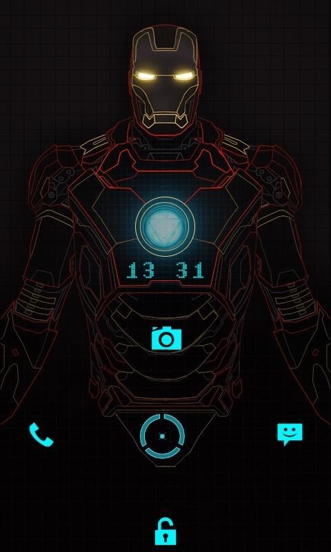 钢铁侠反应堆手绘设计图