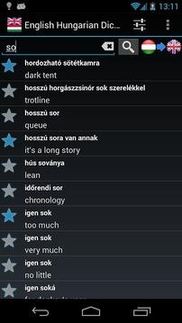 English Hungarian Dict. FREE