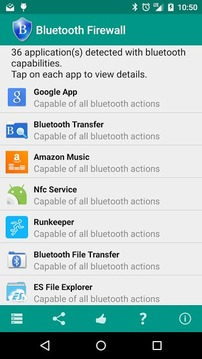 Bluetooth Firewall Trial