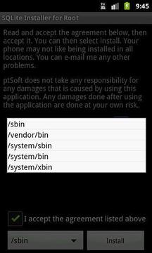 SQLite Installer for Root