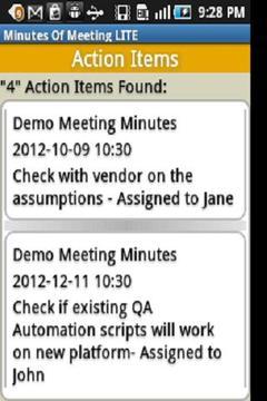 Minutes Of Meeting Lite