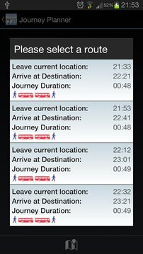 伦敦公共汽车跟踪现场