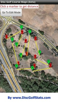 光盘高尔夫球场的地图(测试版)