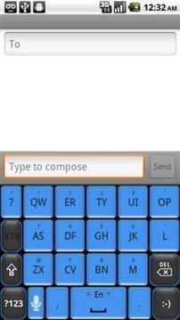 蓝色键盘皮肤