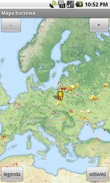Mapa burzowa i pogodowa