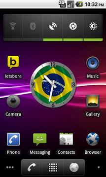 Brazil Flag Analog Clock