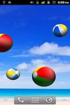 Beach Balls Livewallpaper