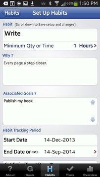 Habit Factor® LT, Goals,Habits