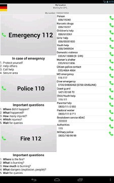 Mobile emergency call