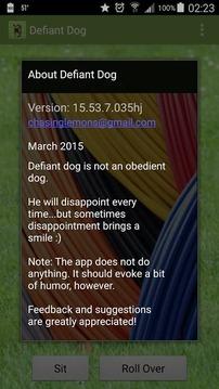 Defiant Dog