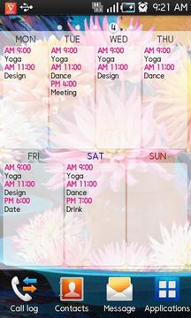 课程表 Timetable Spread!2