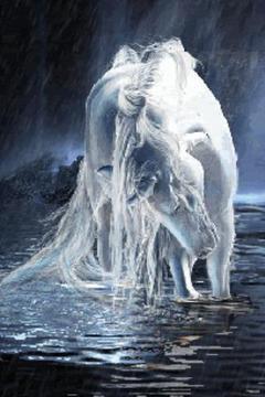 White Unicorn Live Wallpaper