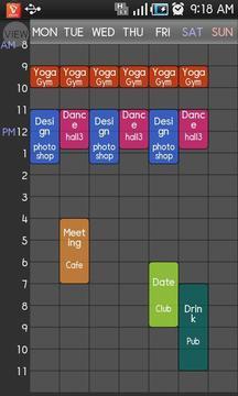 课程表 Timetable Spread!2
