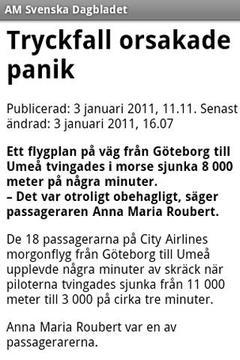 AM Svenska Dagbladet